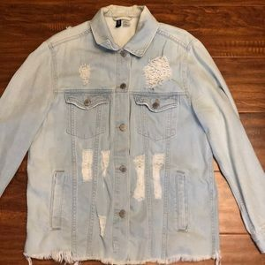 Distress denim jacket